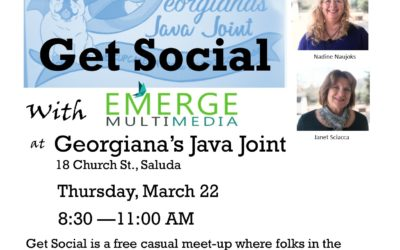 Get Social at Georgiana's Java Joint March 22