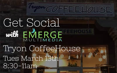Get Social at Tryon CoffeeHouse March 13th