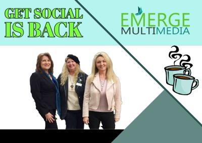 Creative for Emerge Multimedia - Get Social