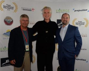 Kirk Gollwitzer, Matthew Modine and Beau Menetre on the Red Carpet Gala Opening for the 2019 Tryon International Film Festival